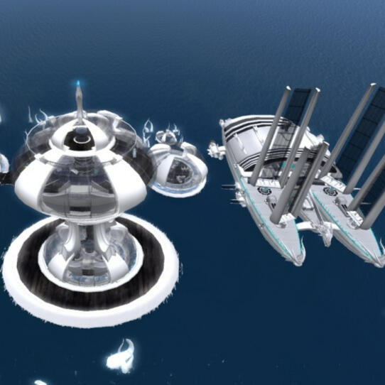 OAR opensim Sci-Fi Water World
